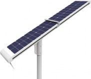 12V DC 4000lm LED solar street lights, auto cleaning solar powered street lights