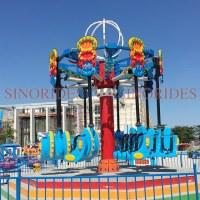 Theme park rides airborne shot spiral jet air flying shooting rides for children