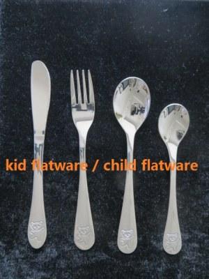 4pcs stainless steel kid flatware