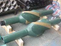 Oil drilling stabilizers with 3 blades and hard facing