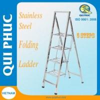 Stainless Steel Folding Ladder 4 steps Qui Phuc Vietnam