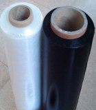 Black and clear stretch film for packing
