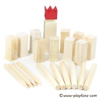 Wooden kubb game set and viking kubb game for garden game