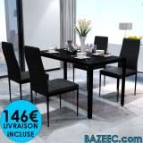 Ensemble table + 4 chaises LIVRAISON GRATUITE