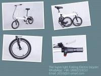 Customized Super Light Electric Folding Bicycle Ebike