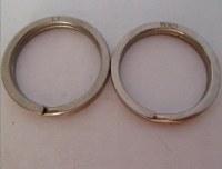 25mm Titanium metal split ring.titanium keyring,titanium keychain products metal crafts