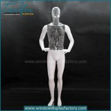 Custom display clear plastic ghost mannequin male