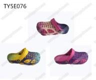 Fancy printing upper girls & ladies beach sandals clogs