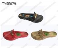 Fashion nude ladies eva loafer clogs sandals