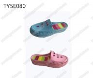 Rhinestone upper ladies easy slip-on sandal clogs