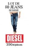 Grossiste lot 80 jeans Diesel Homme 2015
