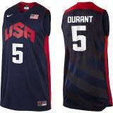 USA 2012 Olympic Dream Team Ten 5 Kavin Durant Blue Basketball Jersey