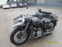 Classic military theme 750cc motorcycle sidecar