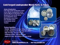 Neodymium U YOKE pot yoke Speakers part made in Taiwan