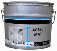 Container de peinture mat acrylique en pot métal de 25kg