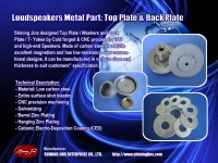 Speaker parts: Back Plate and Pot Yokes for Loudspeakers Motor Assemblymade in Taiwan
