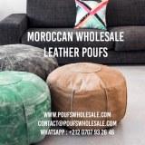 Pouf Leather Luxury Ottomans Footstools