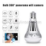 Wifi light bulb camera 360 degree fisheye panoramic camera