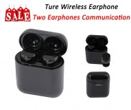 Ture Wireless Earphone-Two Earphone Communication Support